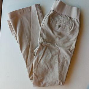 Old Navy maternity khaki dress pants straight leg